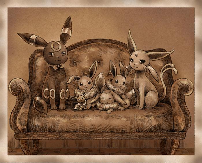 Eevee Family Portraits