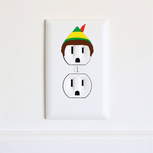 Geeky Electric Outlet Stickers