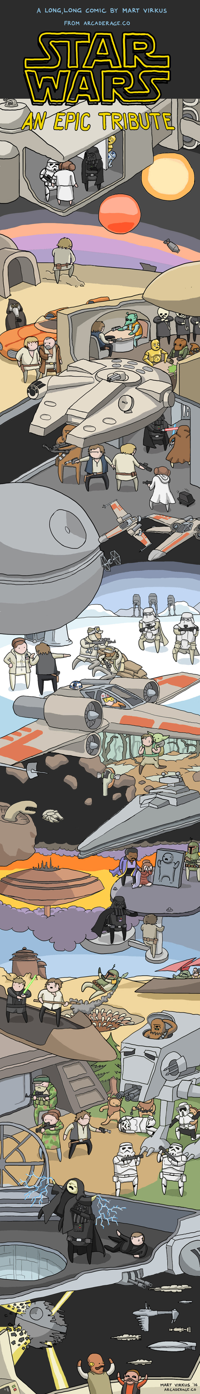 The Entire Star Wars Original Trilogy in One Big Comic