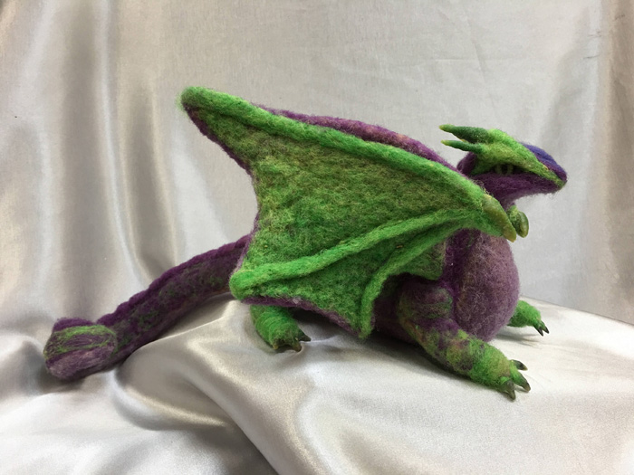 Needle Felted Dragons