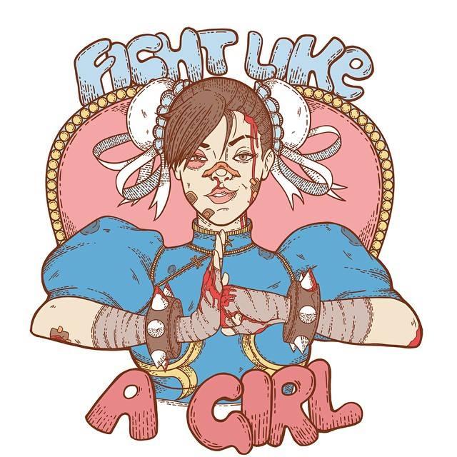 Fight Like A Girl Fan Art