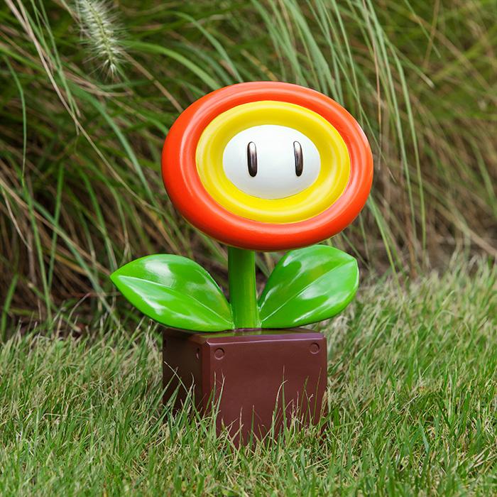 Nintendo Super Mario Fire Flower Garden Statue