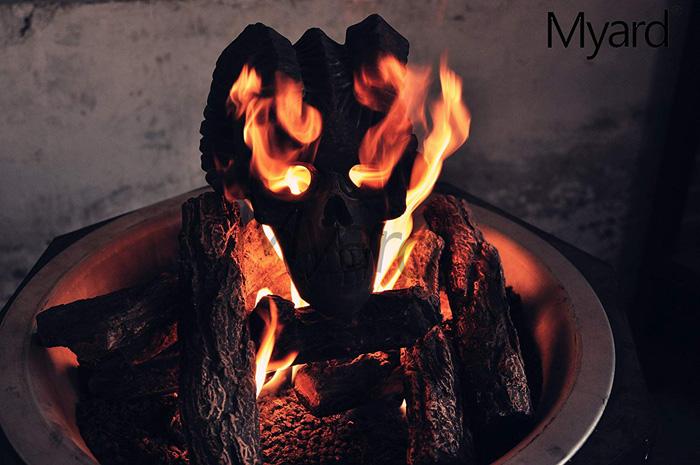 Fire Pit Demon Skull