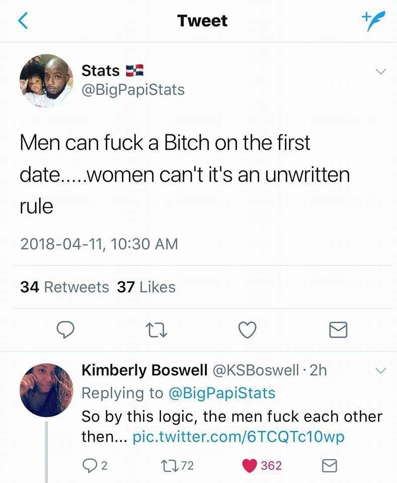 Guy Thinks Only Men Can Have Sex on the First Date