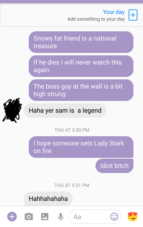 First Time Watching Game of Thrones Texts
