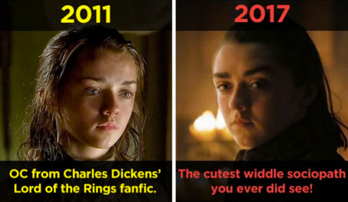 Game of Thrones Then and Now