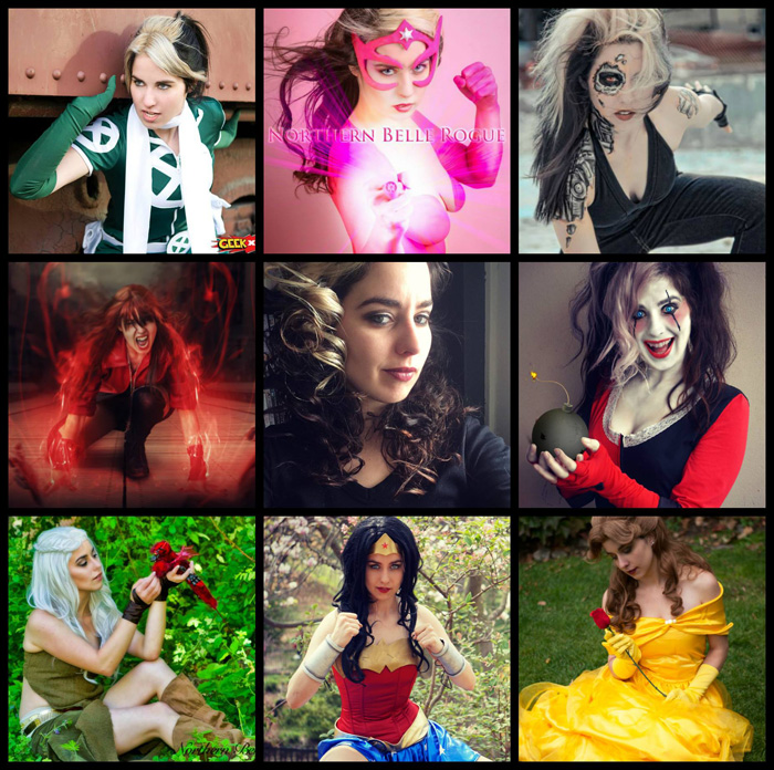 Geek Girls 1 Selfie/8 Cosplays