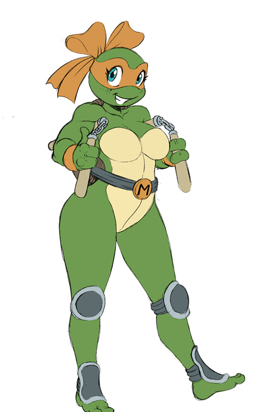 Genderbent Teenage Mutant Ninja Turtles Fan Art