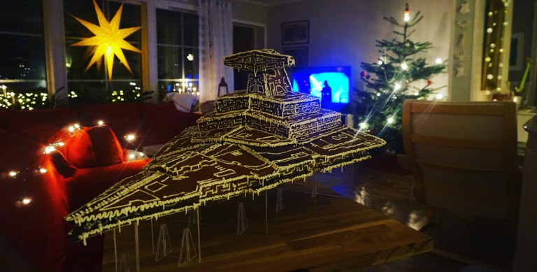 Gingerbread Star Destroyer from Star Wars