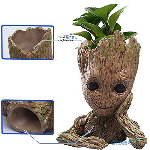 Baby groot flowerpot for Personnage decoration jardin