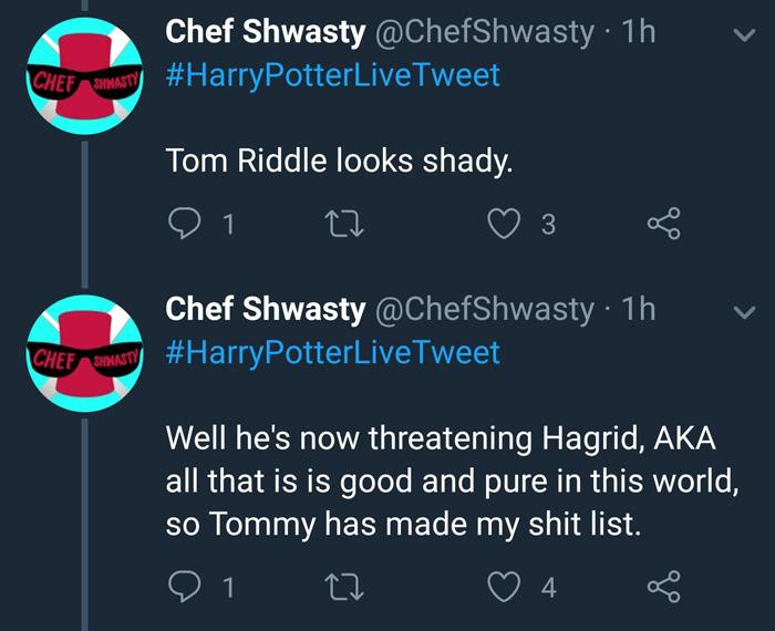 Harry Potter Live Tweets Part 2