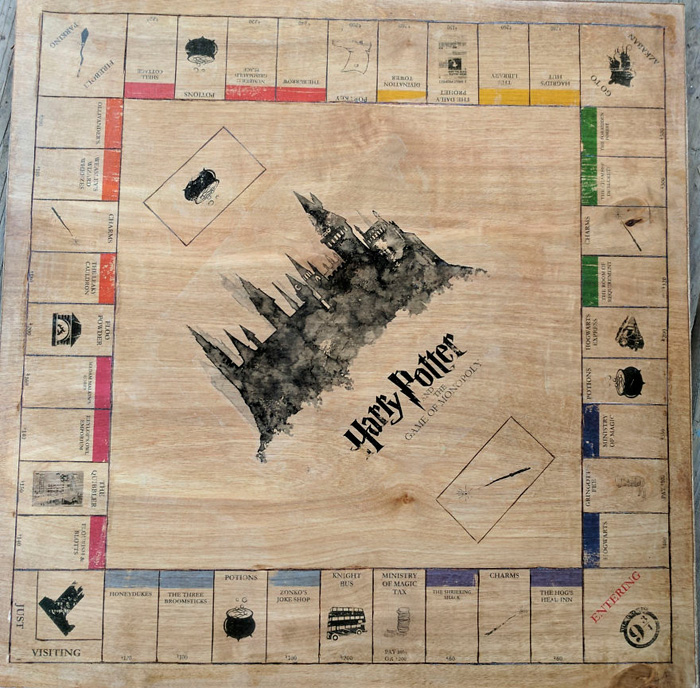 Handmade Harry Potter Monopoly