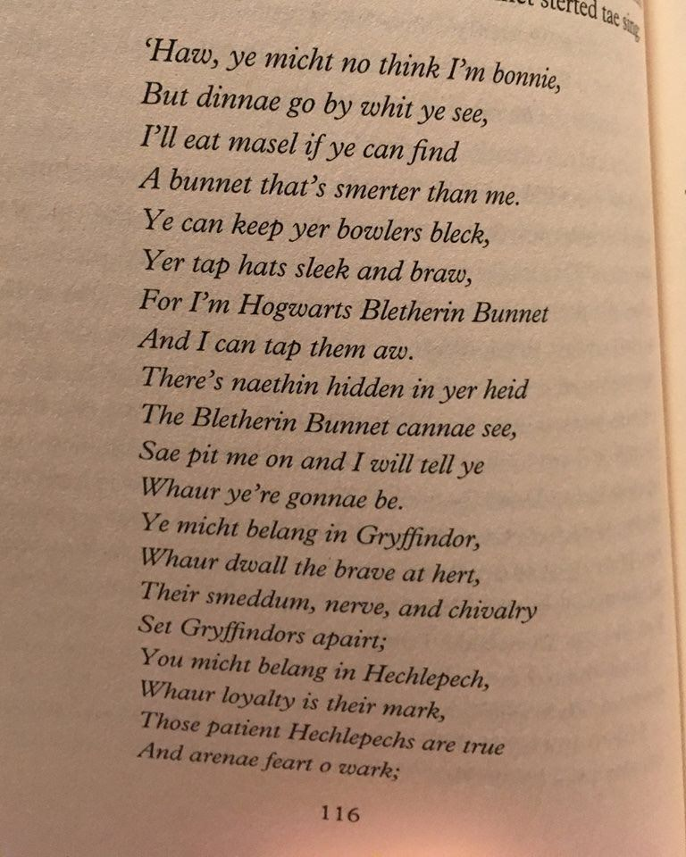 Harry Potter Scots Edition
