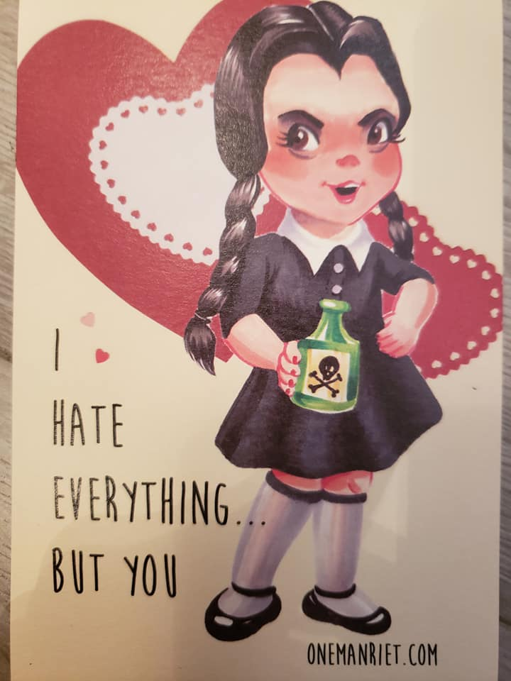 Horror Ladies Valentines Day Cards