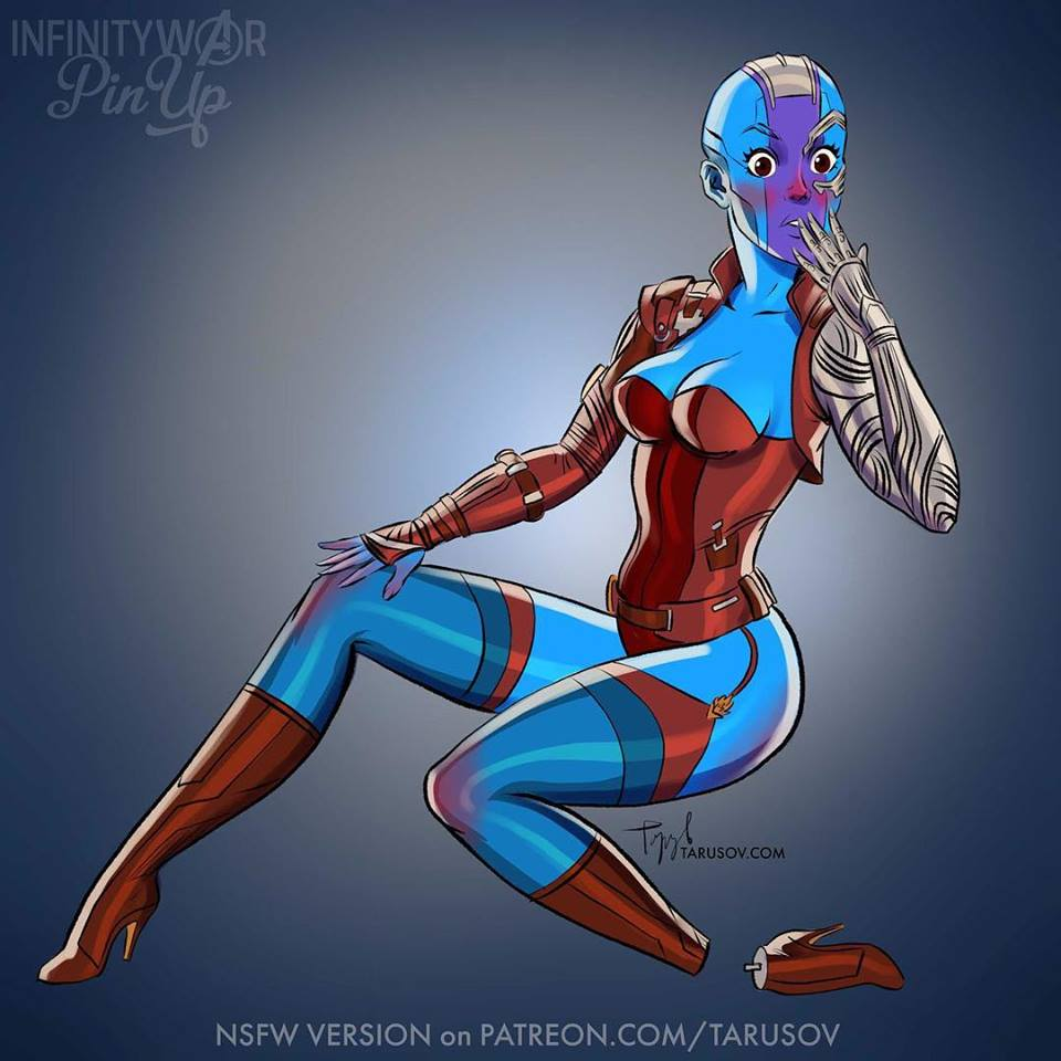 Ladies of Avengers: Infinity War Pinups