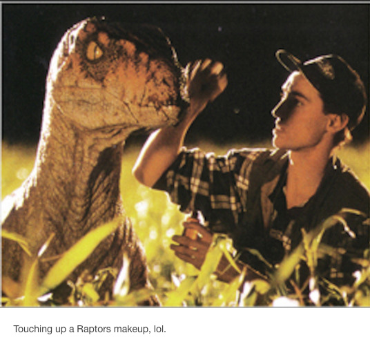 Jurassic  Park Dinosaurs Being Treated Like Actors