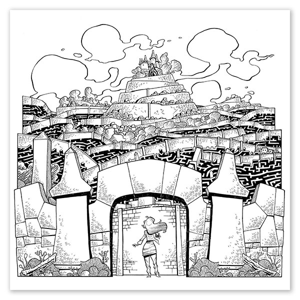 Labyrinth Adult Coloring Book