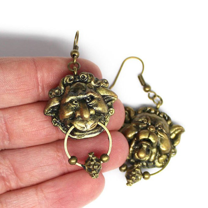 Labyrinth Door Knocker Earrings