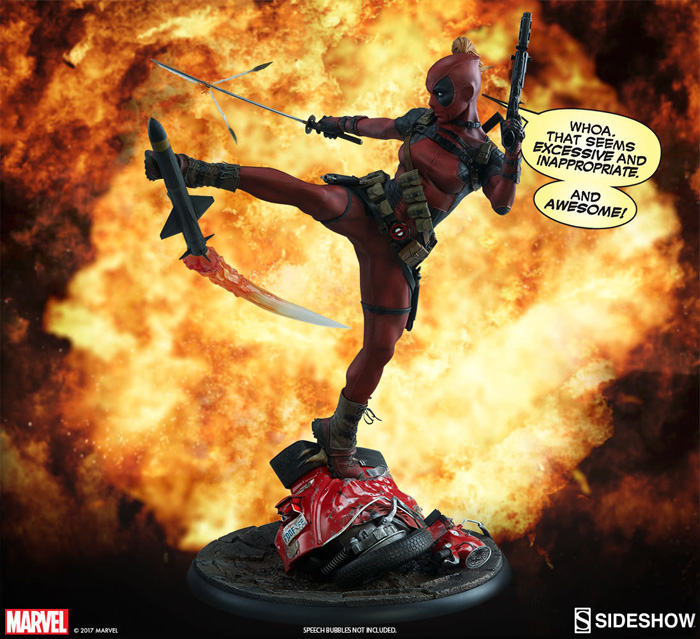 Deadpool & Lady Deadpool Figures