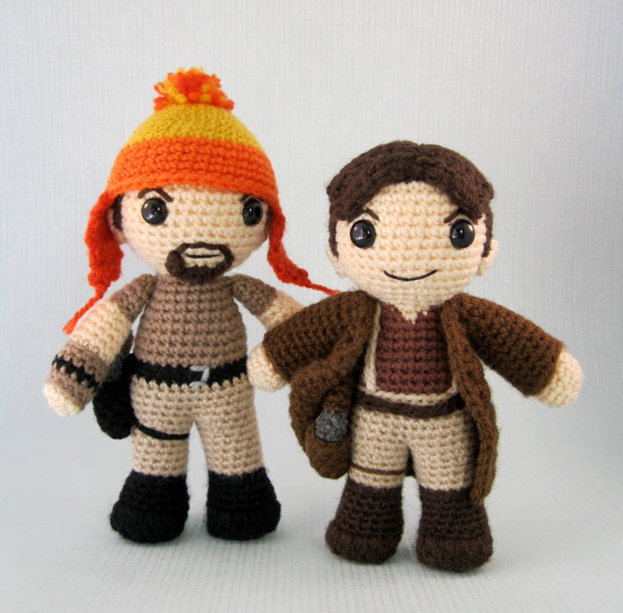Crocheted Mal and Jayne from Firefly