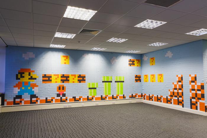 Mario Post-it Mural