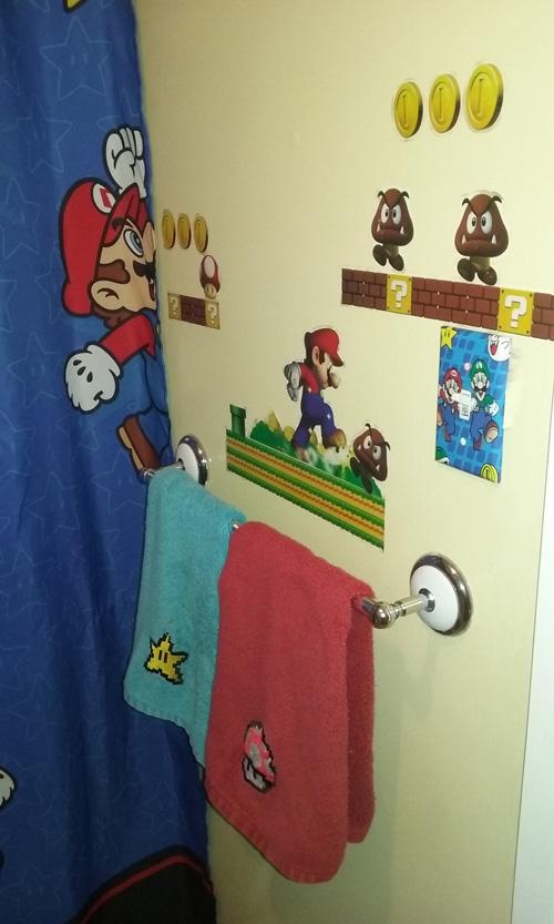 Mario Themed Bathroom