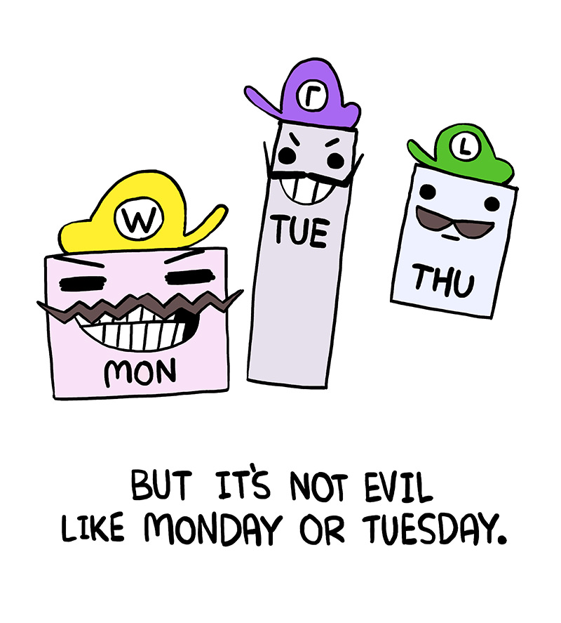 Thursday is Luigi