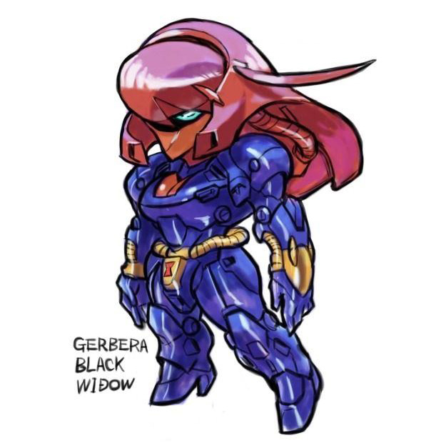 Gundam x Marvel Crossover Fan Art