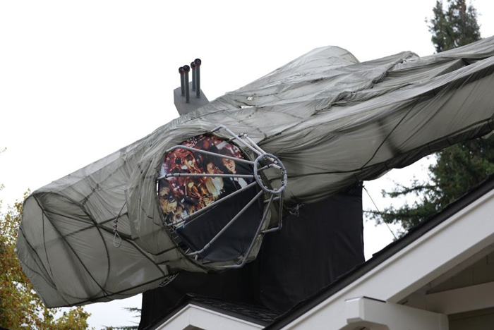 Light-Up Millennium Falcon Christmas Decorations
