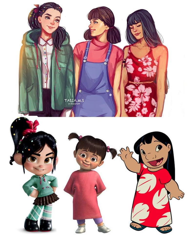 Modern Cartoon Character Fan Art Redesigns