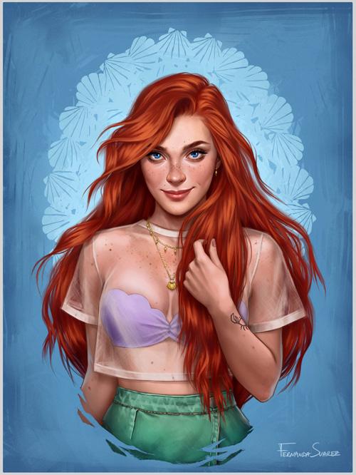 Modern Disney Princesses Fan Art