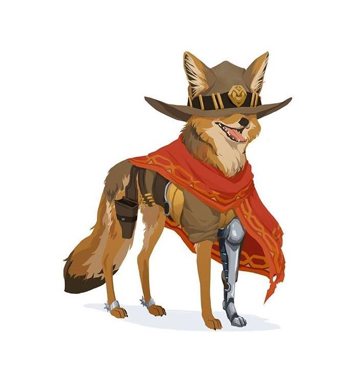 Overwatch Heroes as Dogs Fan Art