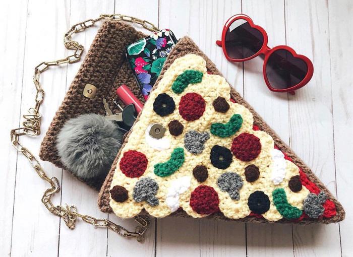 Crochet Pizza Purse
