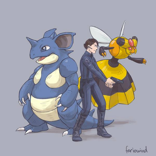 Avengers / Pokemon Crossover Fan Art