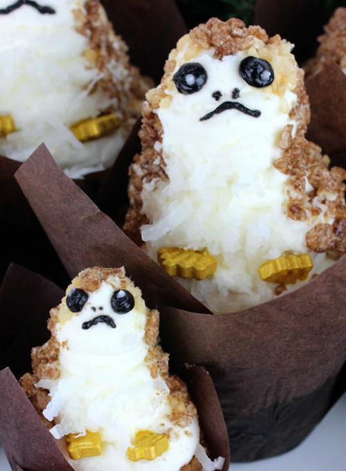 Porg Cupcakes