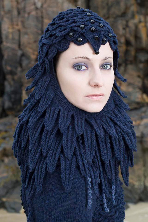 Knitted Raven Creature Costume