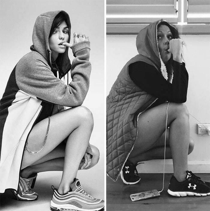 Hilarious Recreations of Celebrity & Model Instagram Photos