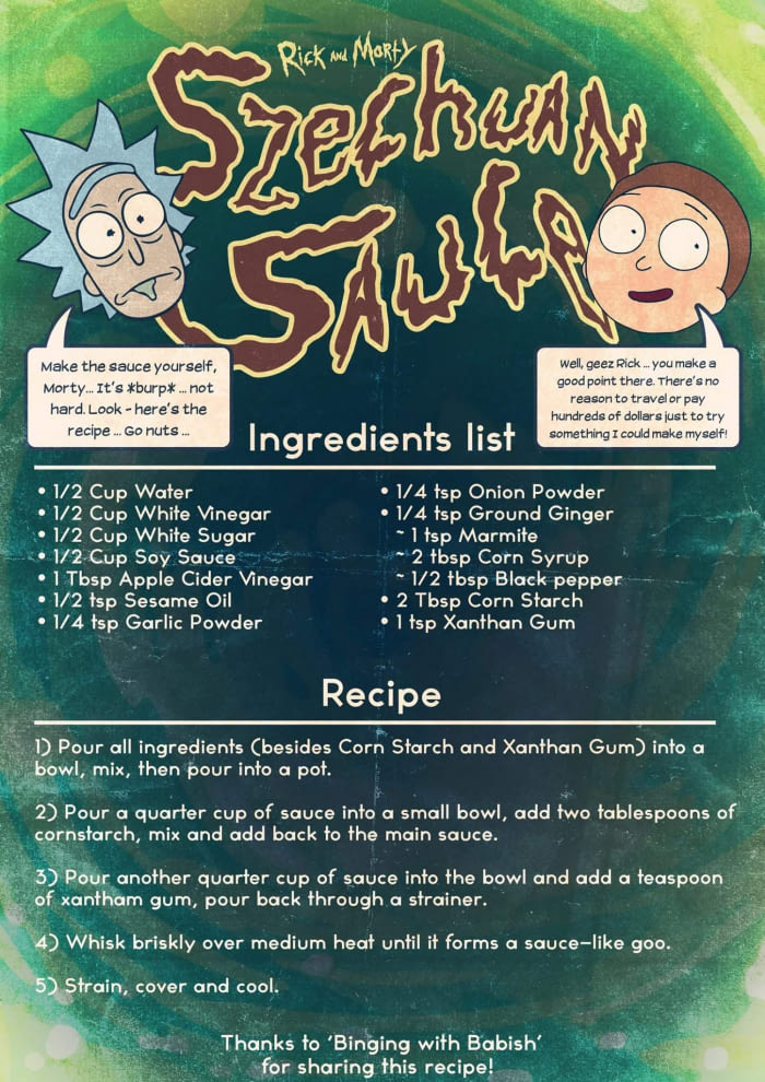 Rick and Morty Schezwan Sauce Recipe