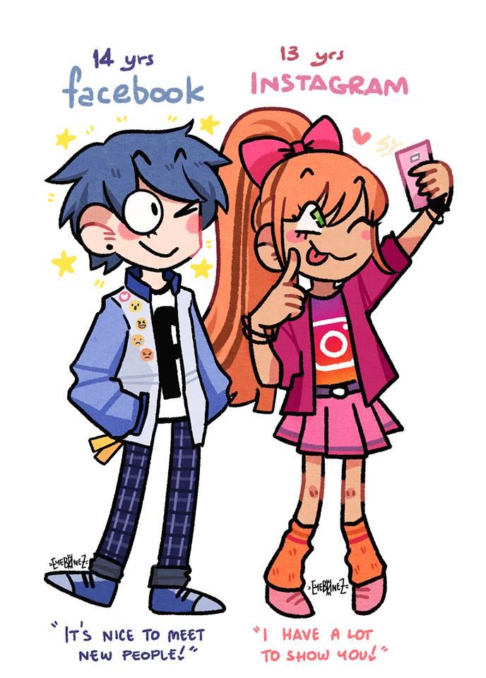 Social Media Platforms as Comic Characters