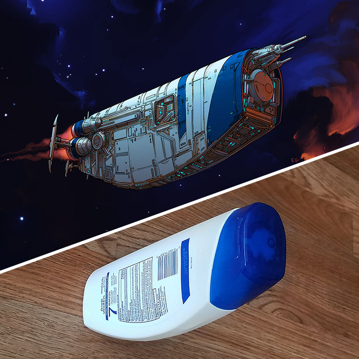 Incredible Fan Art Turns Everyday Objects Into Spaceships