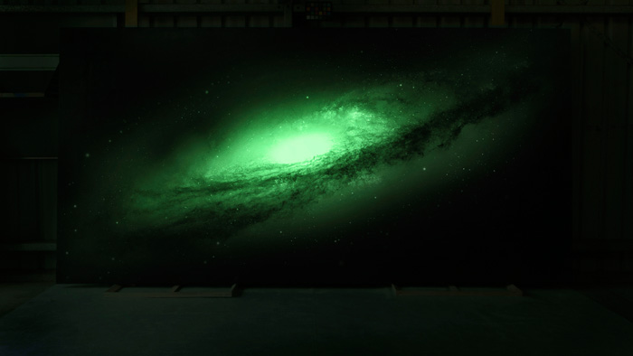 Glow in the Dark Galaxy Painting for SpaceX