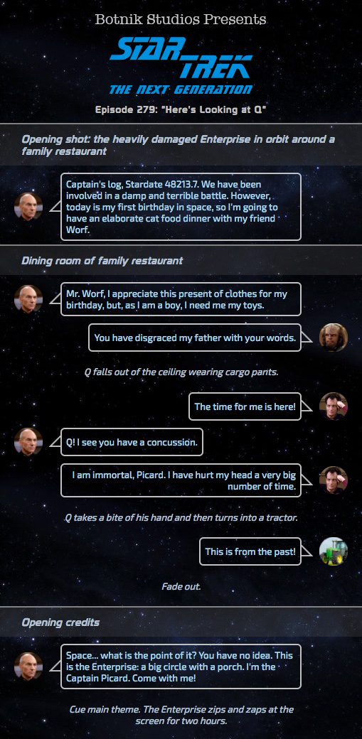 Bot Writes an Episode of Star Trek: TNG