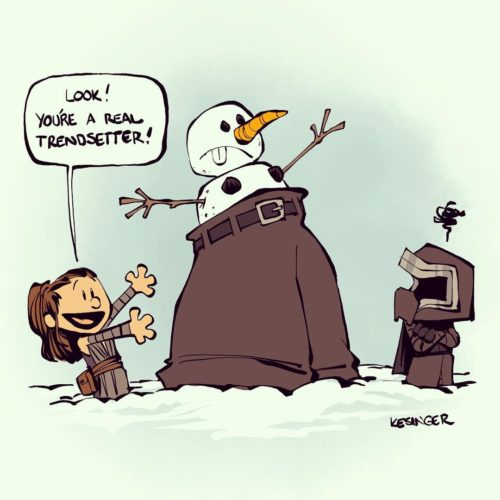 Star Wars Calvin & Hobbes Mashup Fan Art