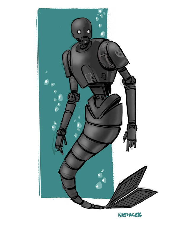 Star Wars Mermaid Fan Art