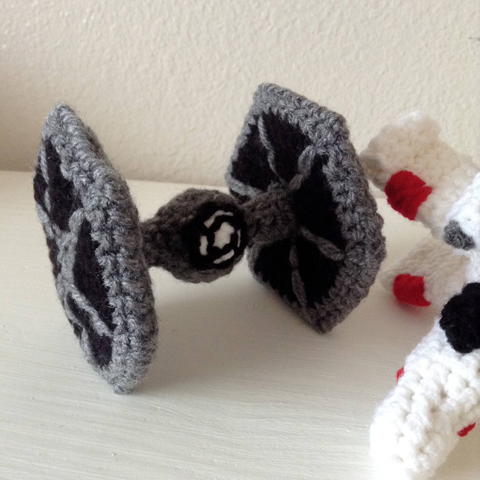 Crocheted Star Wars TIE Fighter & X-Wing