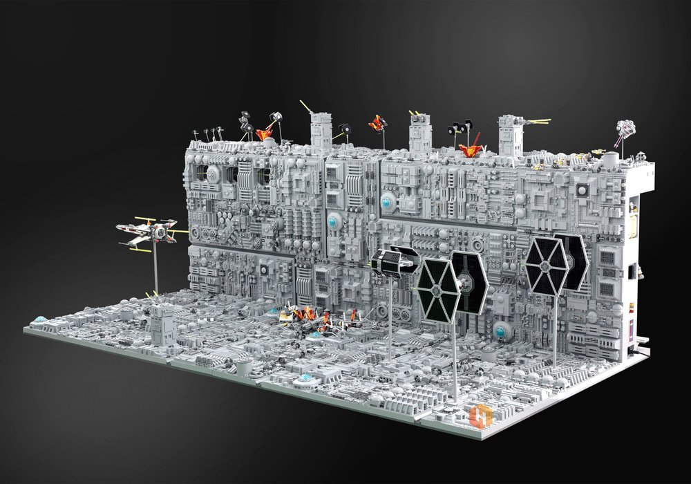 LEGO Star Wars Death Star Trench Run