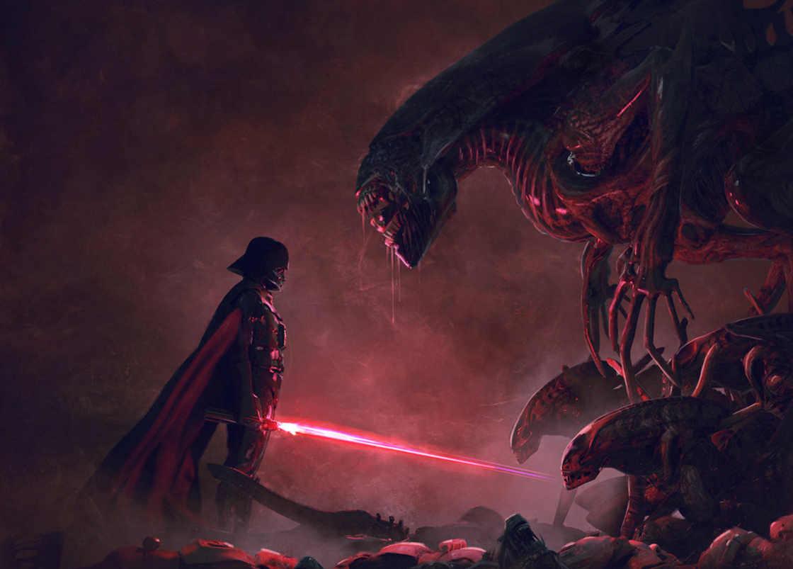 Star Wars vs Aliens Fan Art