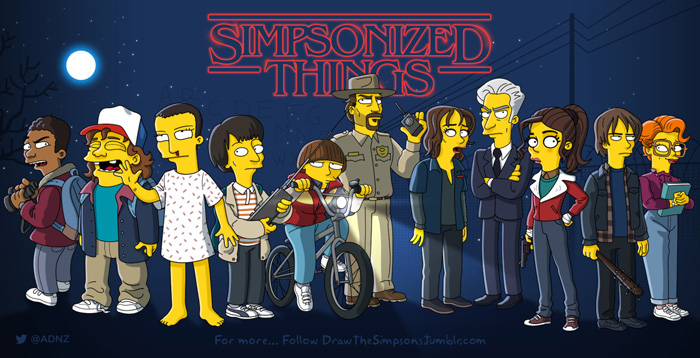 Stranger Things Simpsonized Fan Art