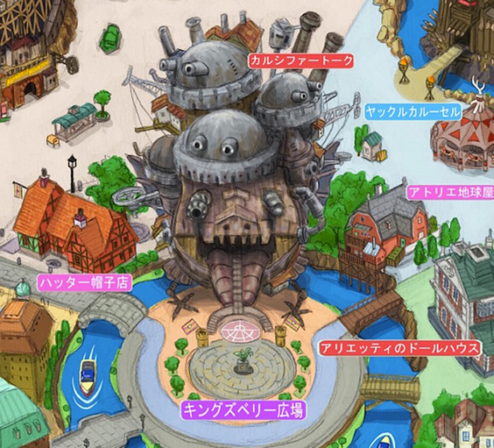 Fan Made Map for Studio Ghibli Theme Park