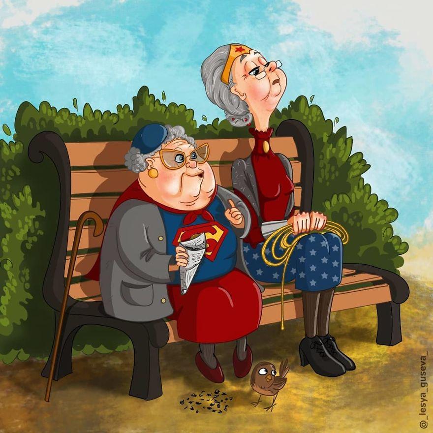 Marvel & DC Superheroes Aged Fan Art